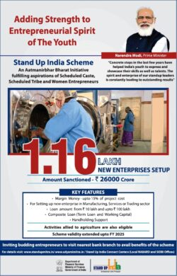 stand-up-india-scheme-1-16-lakh-new-enterprises-setup-amount-sanctioned-rs-26000-crore-ad-toi-delhi-1-7-2021