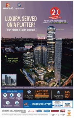 supertech-supernova-residences-spira-residences-sector-94-noida-ready-to-move-in-luxury-residences-ad-times-of-india-delhi-10-7-2021