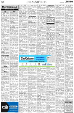the-tribune-12-6-2021-matrimonial-wanted-bride-classified-paper