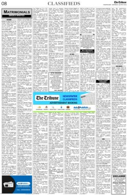 the-tribune-19-6-2021-matrimonial-wanted-bride-classified-paper