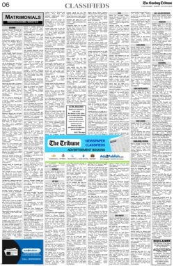the-tribune-20-6-2021-matrimonial-wanted-groom-classified-sunday-paper