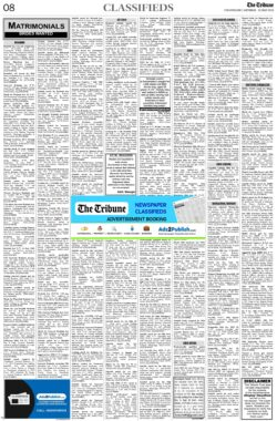 the-tribune-22-5-2021-matrimonial-wanted-bride-classified-paper
