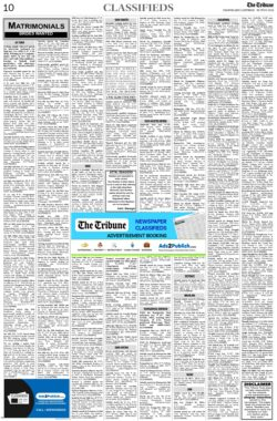 the-tribune-26-6-2021-matrimonial-wanted-bride-classified-paper