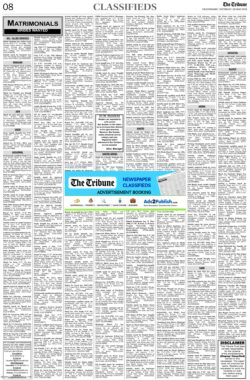 the-tribune-29-5-2021-matrimonial-wanted-bride-classified-paper