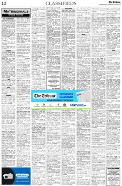 the-tribune-3-7-2021-matrimonial-wanted-bride-classified-paper
