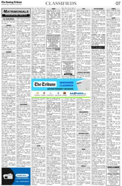 the-tribune-4-7-2021-matrimonial-wanted-groom-classified-sunday-paper