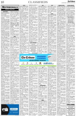 the-tribune-5-6-2021-matrimonial-wanted-bride-classified-paper