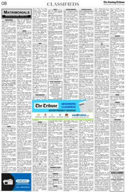 the-tribune-6-6-2021-matrimonial-wanted-groom-classified-sunday-paper
