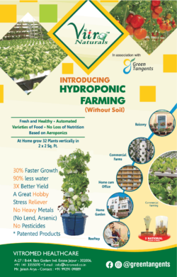 Vitro Naturals Introducing Hydroponic Farming Without Soil