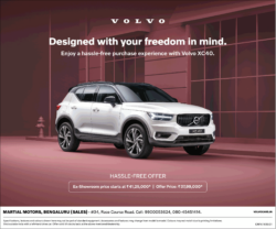 volvo-xc40-car-ex-showroom--offer-price-at-rs-37-lakhs-99-thousand-ad-times-of-india-bangalore-9-7-2021