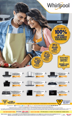 Whirlpool Chimneys Get Up To 100% Instant Cash Benefit On Offer Prices Ad Times Of India Mumbai 10-7-2021